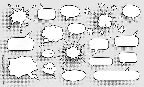 Fotografie, Obraz  Set of speech bubbles.