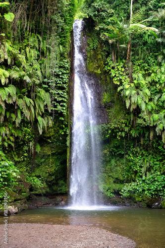 Photo  magical waterfall in bali. indonesia