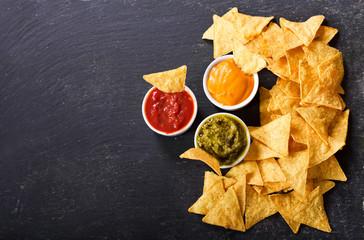 mexican nachos corn chips w...