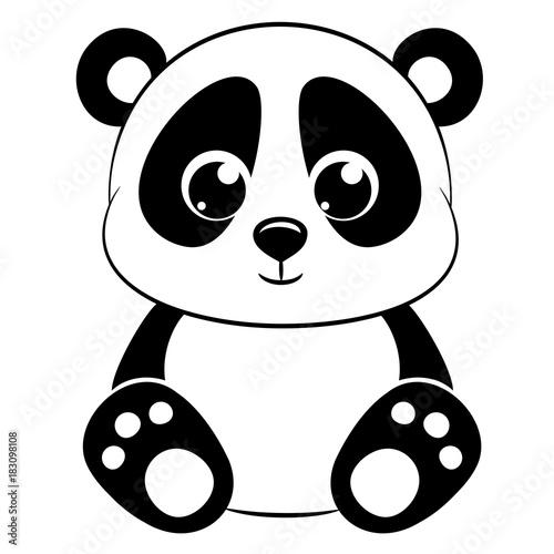 Fototapeta premium Śliczna panda na białym tle.