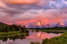 Mountains In Grand Teton Natio...