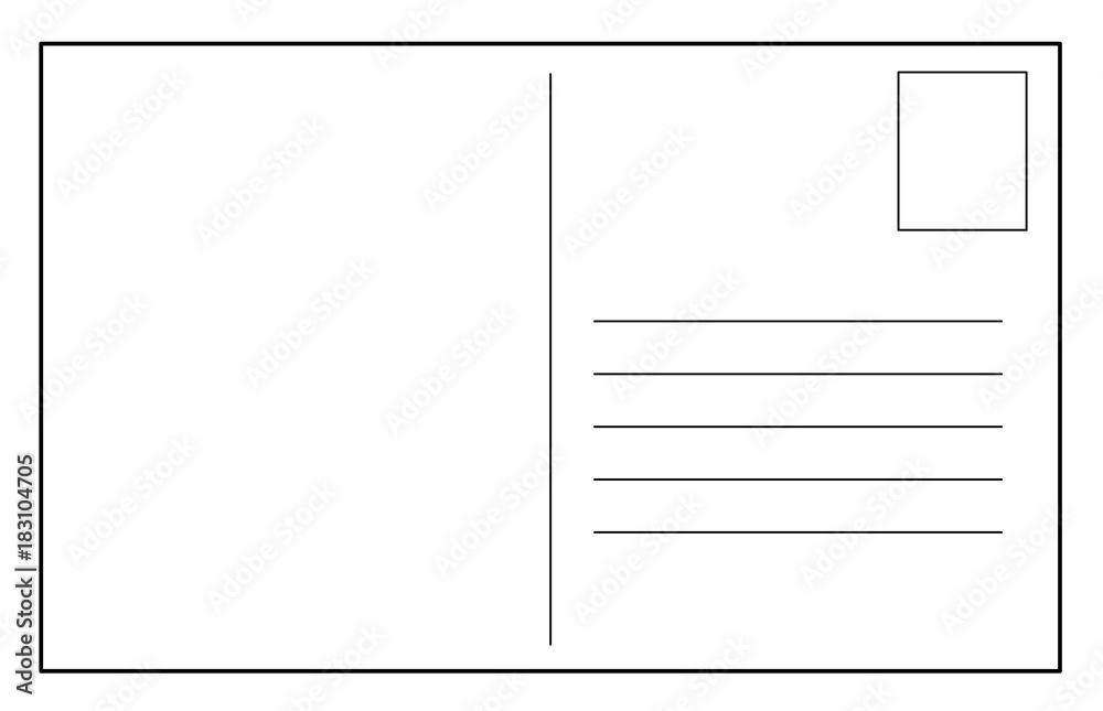 Fototapeta Post card vector template