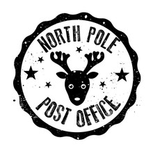 North Pole Post Office Rubber ...