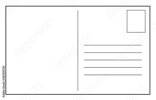 Pinturas sobre lienzo  Post card vector template