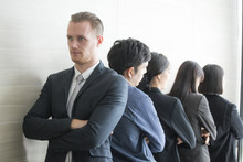 Business People Disagree With Boss And Looking To Anather Way.