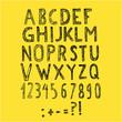 Alfabet ręcznie rysowany - szkic
