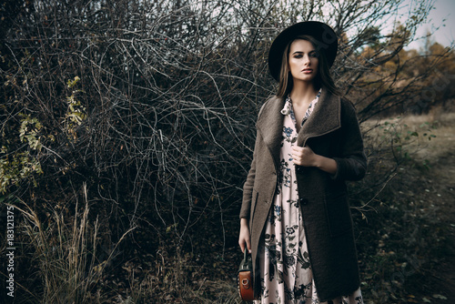 Poster Gypsy autumn melancholy mood