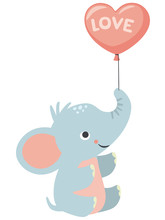 Cute Little Baby Elephant Hold...