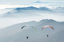 Paragliding On The Mountains