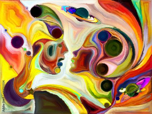 Obraz na plátně Complex Color Division