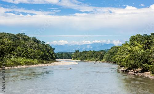 Foto auf Gartenposter Fluss Amazonian rainforest. Napo River. Napo province, Ecuador
