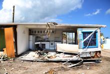 Hurricane Irma Damage To A Trailer Park