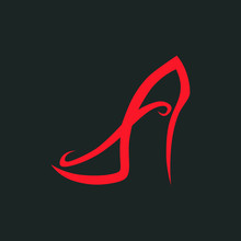 Abstract High Heel Shoe Symbol...