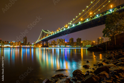 Fototapeta Manhattan Bridge od DUMBO