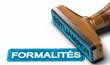 Mot Formalités Administratives sur Fond Blanc