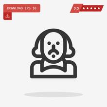 Shakespeare Vector Icon