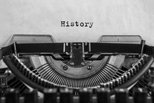 History Typed On An Vintage Ty...