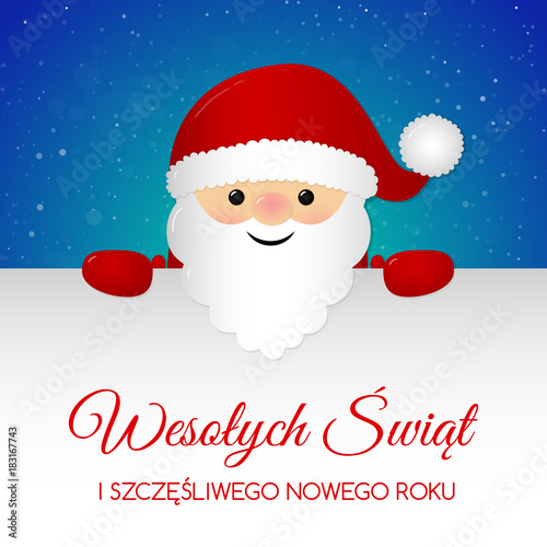 Merry Christmas In Polish.Merry Christmas In Polish Wesolych Swiat Concept Of Card