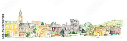 ヨーロッパの街並と田園風景