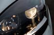 car a headlight with a lens