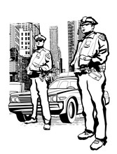 Policemen In The 5th Avenue In...