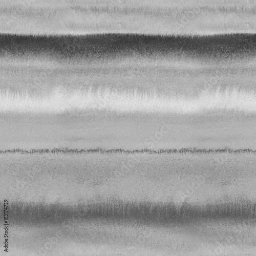 Cotton fabric Black and white monochrome wet watercolor background. Seamless pattern with art grey color blurred repeat straight stripes texture. Hand painting brush strokes abstract pattern.