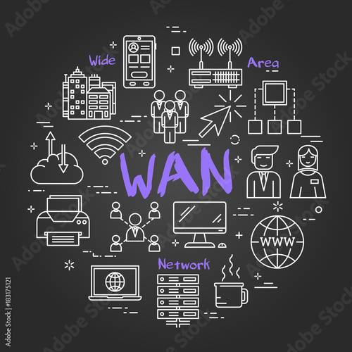 Fotografía  Chalk board concept - WAN