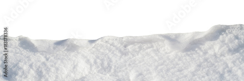 wave of snow isolated, design element