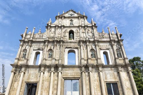 Fotobehang Oude gebouw The Ruins of St. Paul's in Macao