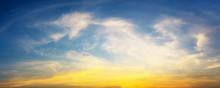 Panorama Twilight Sky And Cloud