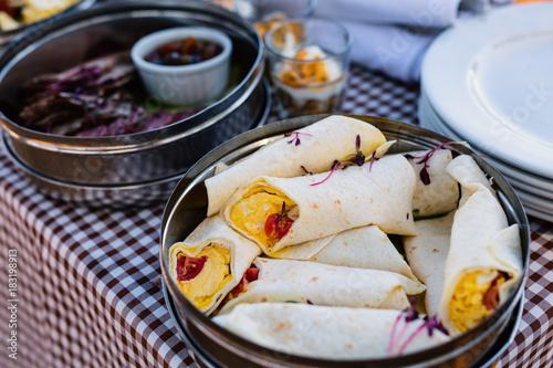 Keuken foto achterwand Picknick Picnic breakfast