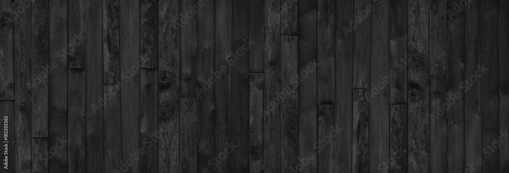 Fototapeta wood black table background. dark top texture blank for design