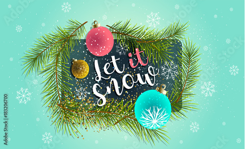 2018 let it snow happy new year background for your seasonal flyers and greetings card