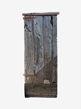 Rustic Wood Door Isolated On W...