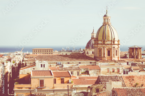 In de dag Madrid Panorama of the city of Palermo in Sicily, Italy