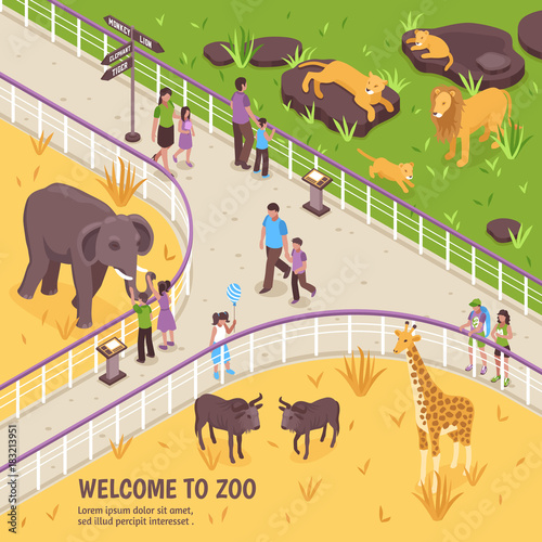 Fotografía Welcome To Zoo Composition