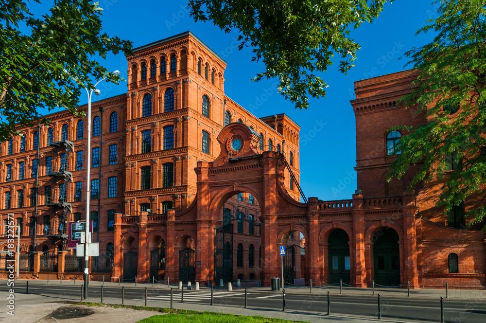 Fototapety, obrazy: Stary budynek fabryczny w Łodzi