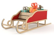 Gifts With Santa Sleigh