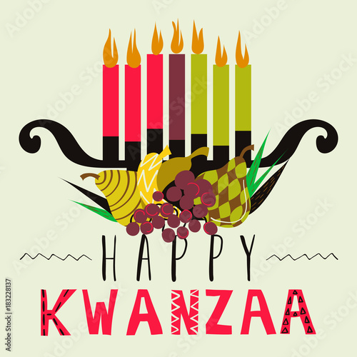 Happy Kwanzaa greeting card, background Fototapete