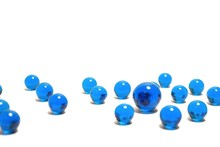 Blue Glass Marble Balls