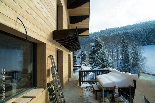 Valokuva Travaux rénovation chalet dans les Alpes