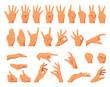 various hands gestures
