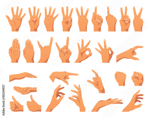 Obraz various hands gestures - fototapety do salonu