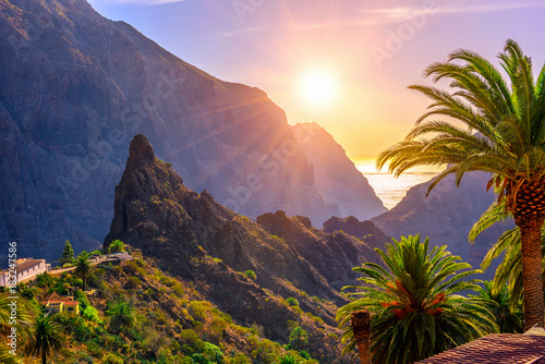 Canyon Masca on Tenerife, Canary Islands. Spain Canvas