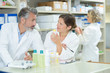 Pharmacists in discussion