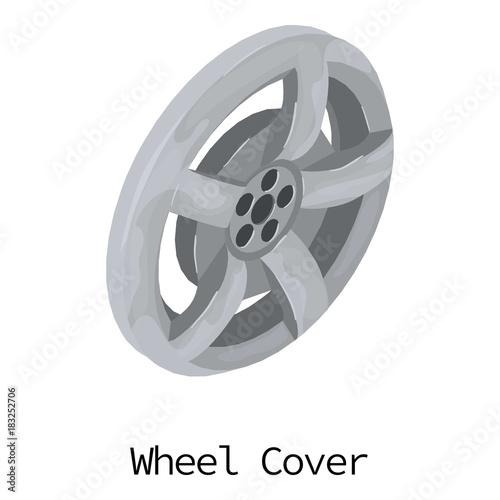 Vászonkép Wheel cover icon, isometric 3d style