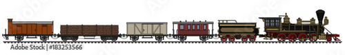 Fotografia Old american wild west steam train