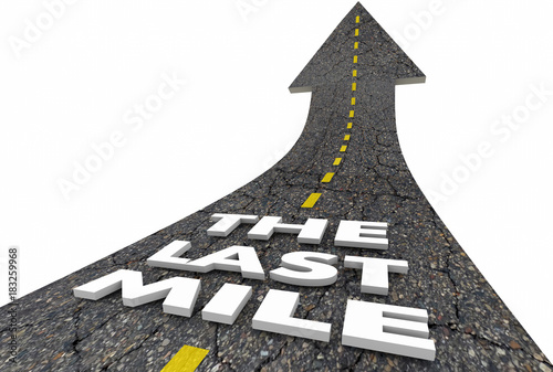 Fotografie, Obraz  The Last Mile Road Final Stretch End Race Driving 3d Illustration