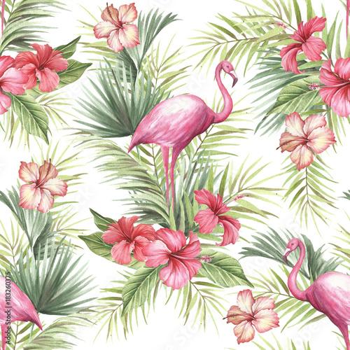 tropikalny-odosobniony-bezszwowy-wzor-z-flamingiem-reka-remisu-akwareli-ilustr