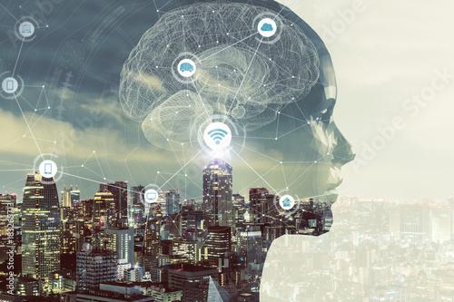 Photo AI(Artificial Intelligence) concept.
